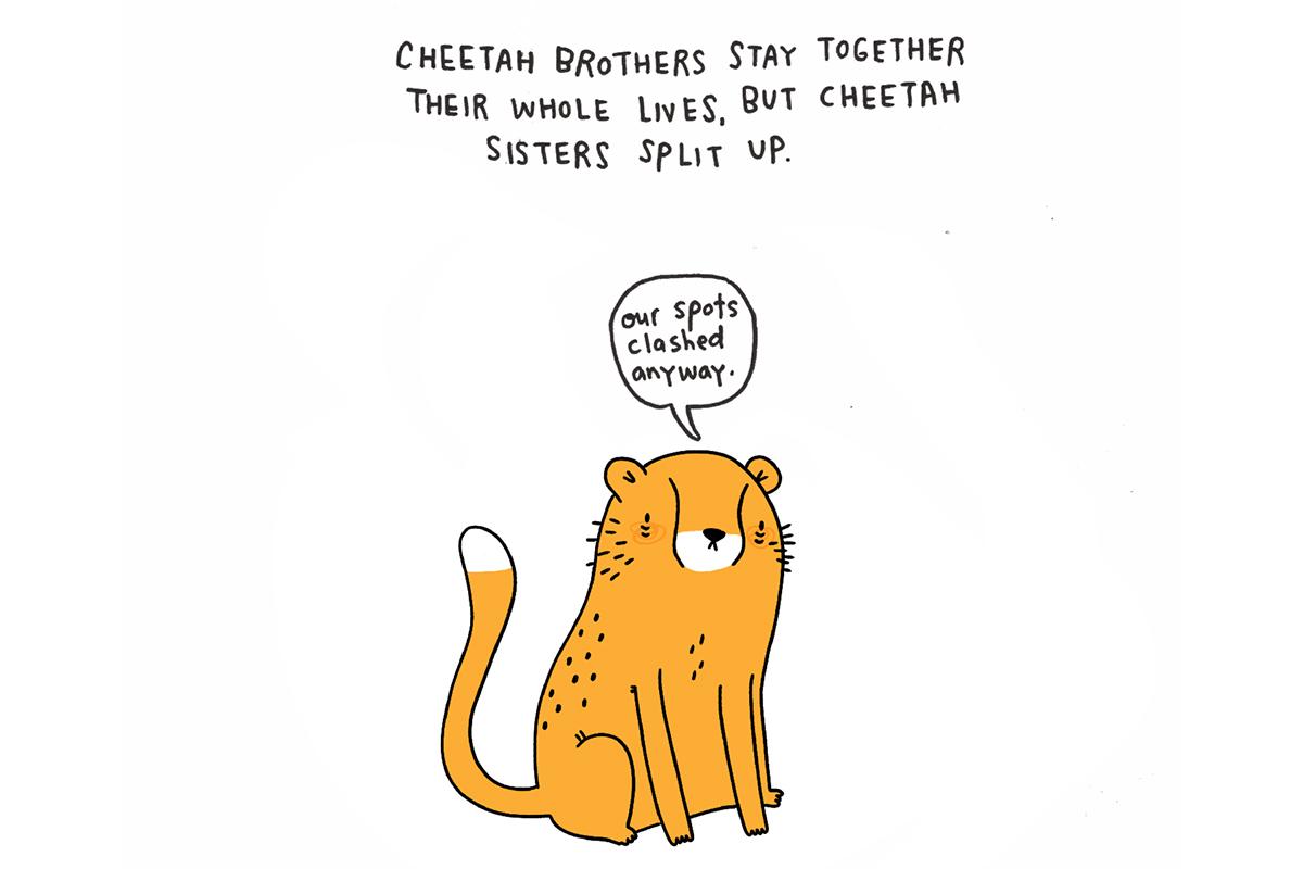 Brooke Barker - SadAnimalFacts - Baby Cheetah