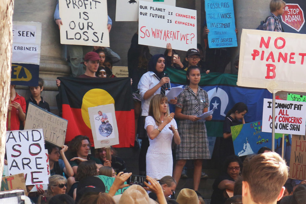 Climate Change Rally Adelaide 2019 - School Strike For Climate - Stop Adani