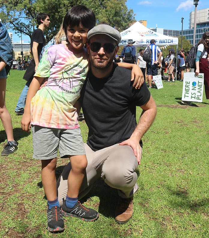 Joel Howland - Conjour Founder - Climate Change Rally Adelaide 2019 - School Strike For Climate - Stop Adani