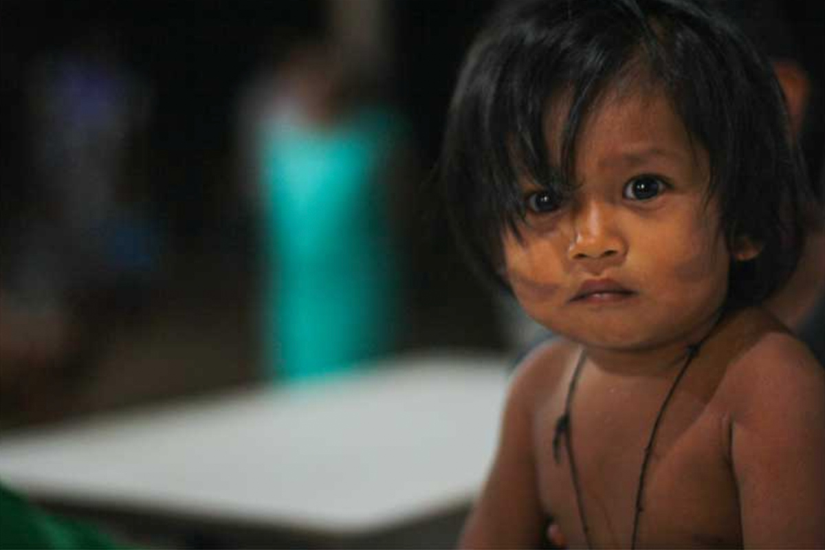 Conjour - Amazon Tribe - Stinging Ants - Deforestation - Cute child from Amazonian tribe