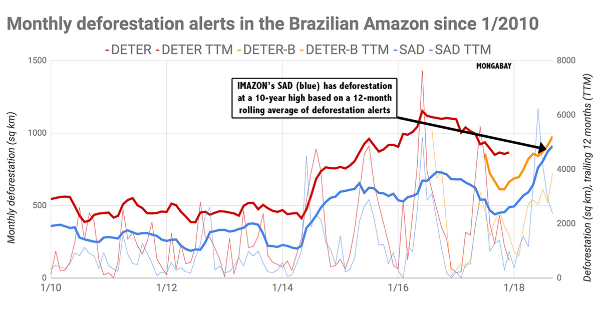 Monthly deforestation alerts - Amazon - Conjour